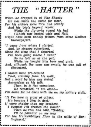 Hatter Poem